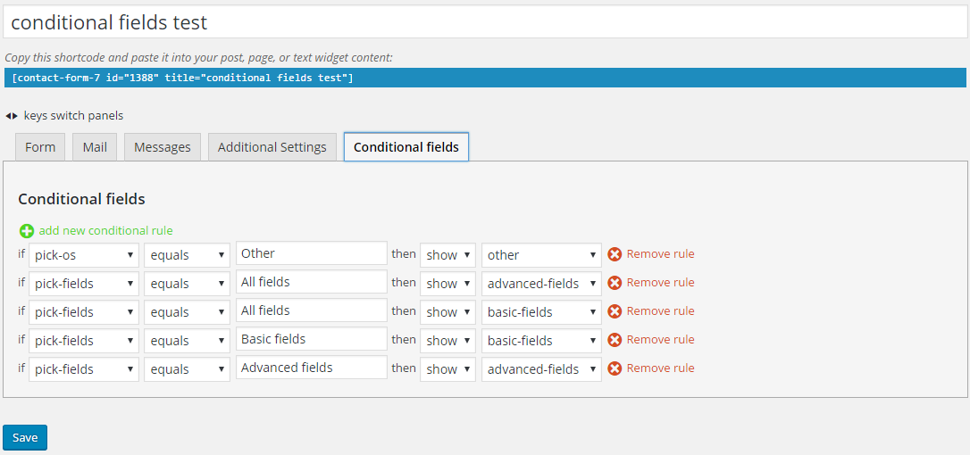 Tutorial: How to set up Conditional Fields for Contact Form 7 ...
